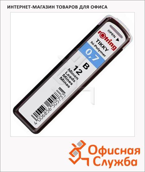 фото: Грифели для механических карандашей Rotring Tikky Hi-Polymer В 0.7мм, 12шт