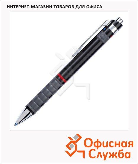 Ручка шариковая автоматическая Rotring Tikky 3 in 1 MultiPen синяя-красная, 0.7мм, черный корпус