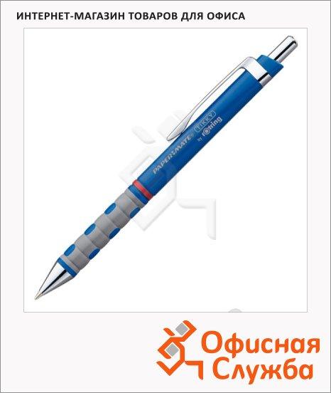 Ручка шариковая автоматическая Rotring Tikky синяя, 0.5мм, синий корпус