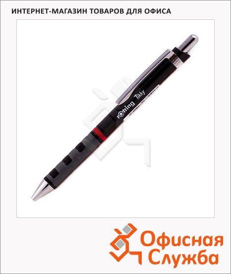 фото: Ручка шариковая автоматическая Rotring Tikky синяя 0.5мм, черный корпус
