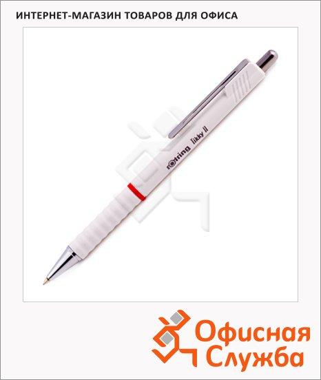 Ручка шариковая автоматическая Rotring Tikky II синяя, 0.5мм, белый корпус
