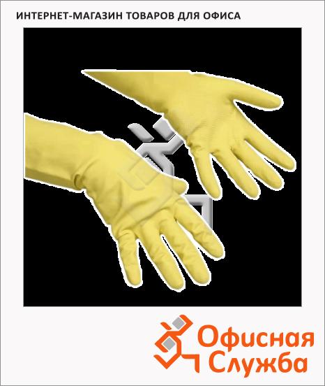 Перчатки резиновые Vileda Pro многоцелевые L, желтые, 100760
