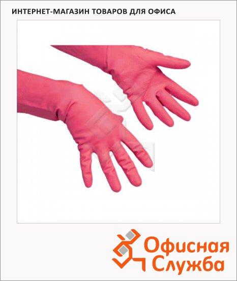 фото: Перчатки резиновые Vileda Pro многоцелевые L красные, 100751