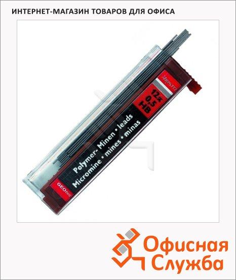 фото: Грифели для механических карандашей Aristo Hi-Polymer НВ 12шт, 0.5мм