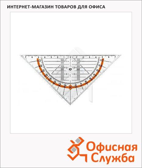 Угольник Leniar 25см, 45°/45°, с транспортиром