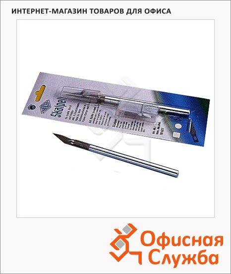 Нож-скальпель канцелярский Leniar стальной