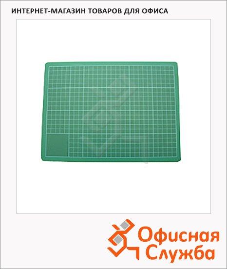 фото: Коврик настольный для резки Leniar 45х60см зеленый, 90197