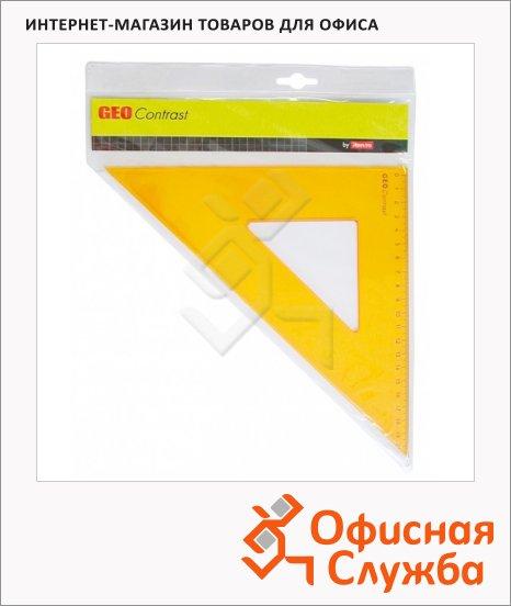 Угольник Aristo GEOContrast 20см, 45°/45°, желтый