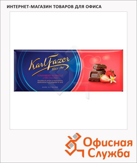 Шоколад Fazer клубника, 200г, молочный