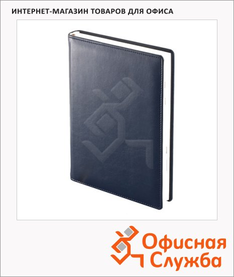 Ежедневник полудатированный Brunnen Оптимум Софт синий, А5, 176 листов