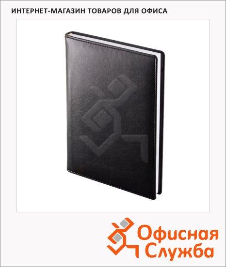 Ежедневник полудатированный Brunnen Оптимум Софт черный, А5, 176 листов