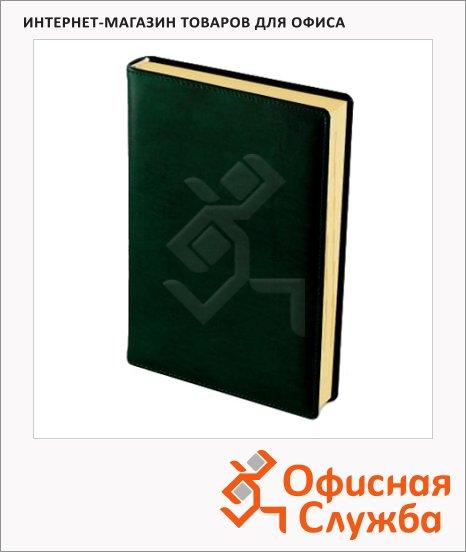 фото: Ежедневник полудатированный Brunnen Оптимум Ля Фонтейн зеленый А5, 180 листов