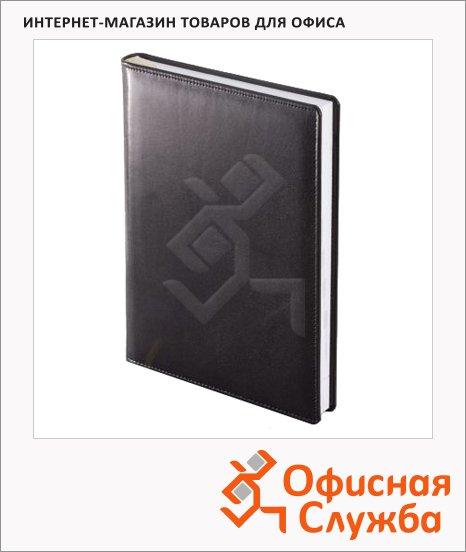 фото: Ежедневник полудатированный Brunnen Оптимум Ля Фонтейн черный А5, 180 листов