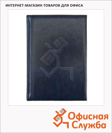 Ежедневник полудатированный Brunnen Оптимум Мадера синий, А5, 180 листов