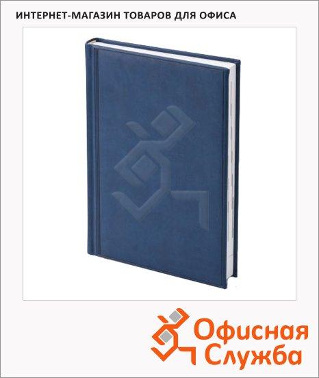 Ежедневник полудатированный Brunnen Оптимум Торино синий, А5, 180 листов