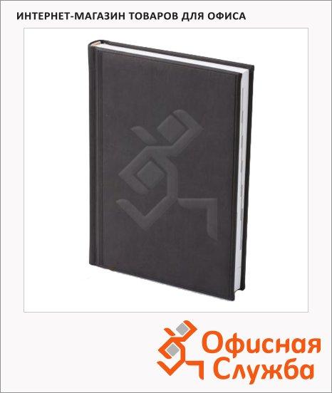 Ежедневник полудатированный Brunnen Оптимум Торино черный, А5, 180 листов