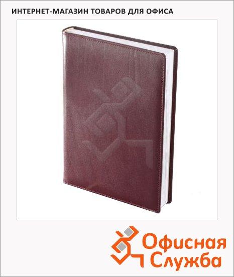 фото: Ежедневник полудатированный Brunnen Оптимум Ля Фонтейн бордовый А5, 180 листов
