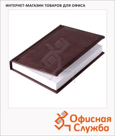 Ежедневник недатированный Brunnen Смарт Торино бордовый, А6, 180 листов