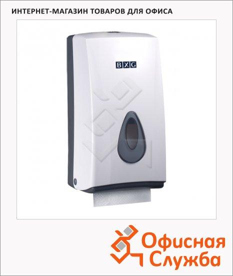 Диспенсер для листовой и рулонной туалетной бумаги Bxg PDM-8177, белый