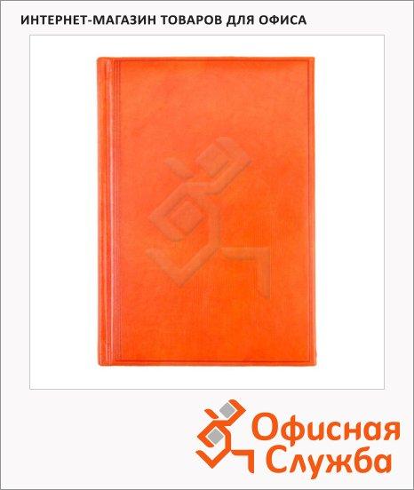 фото: Ежедневник полудатированный Brunnen Оптимум Мадера оранжевый 180 листов, А5