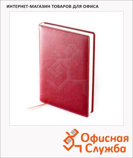 Ежедневник полудатированный Brunnen Оптимум Софт бордовый, А5, 180 листов