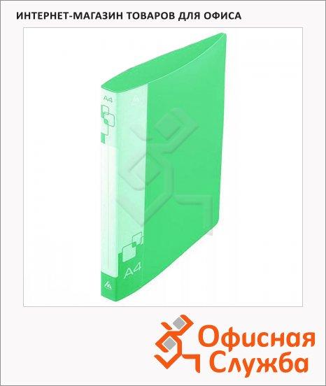 фото: Папка на 4-х кольцах А4 Бюрократ зеленая 40 мм, 0840/4Dgrn