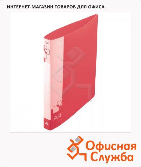 Папка на 4-х кольцах А4 Бюрократ красная, 40 мм, 0840/4Dred