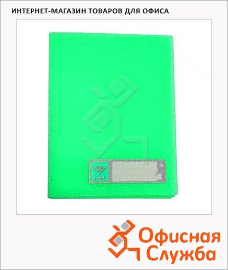 Папка на 4-х кольцах А4 Бюрократ Crystal зеленая, CR0527/4Rgrn