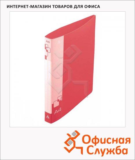 фото: Папка на 4-х кольцах А4 Бюрократ красная 27 мм, 0827/4Rred