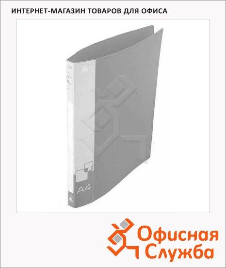 Папка на 2-х кольцах А4 Бюрократ серая, 18 мм, 0818/2Rgrey