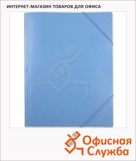 Пластиковая папка на резинке Бюрократ синяя, A3, до 150 листов, PRA3blu/816786