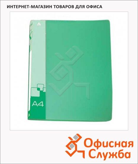 Скоросшиватель пружинный Бюрократ зеленый, А4, PZ07PGREEN