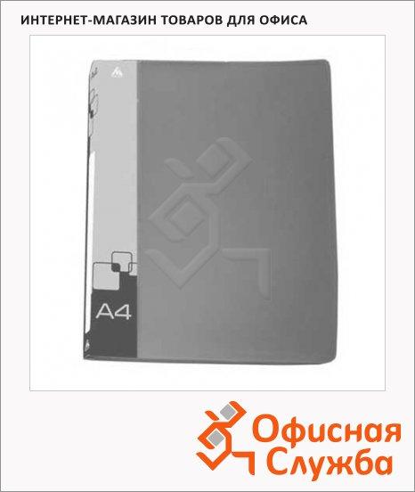 Скоросшиватель пружинный Бюрократ серый, А4, PZ07PGREY