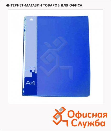 Скоросшиватель пружинный Бюрократ синий, А4, PZ07PBLUE