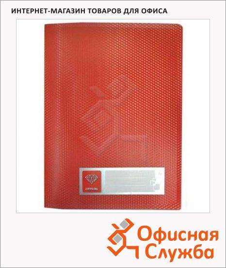 фото: Пластиковая папка с зажимом Crystal красная CR05CRED