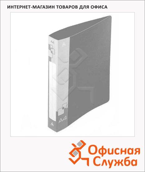 Папка пластиковая с зажимом Бюрократ серая, А4, 15мм, PZ05CGREY