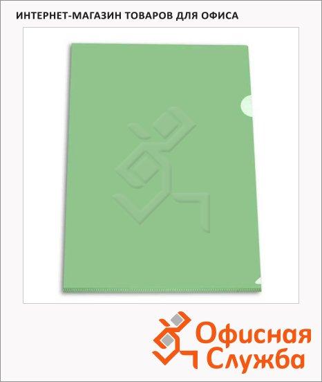 Папка-уголок Бюрократ зеленая, EE312GR
