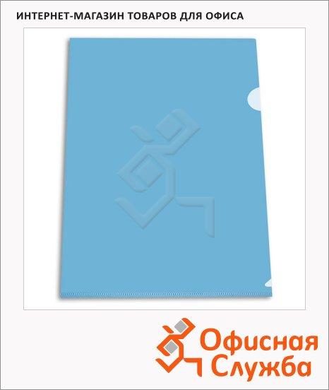 Папка-уголок Бюрократ синяя, EE312BLU