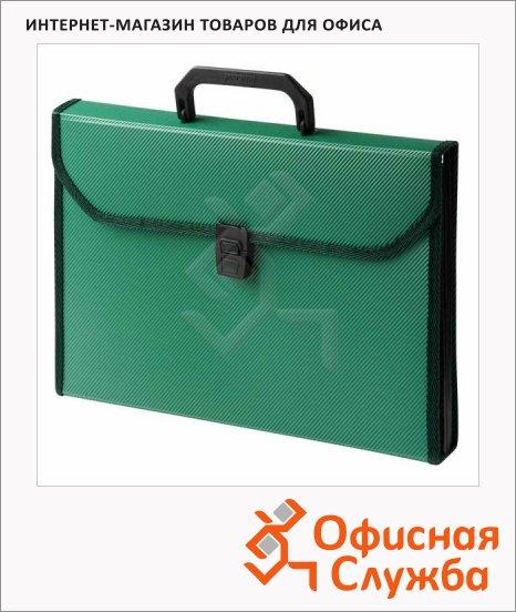 фото: Портфель пластиковый Бюрократ зеленый PP24TLgrn