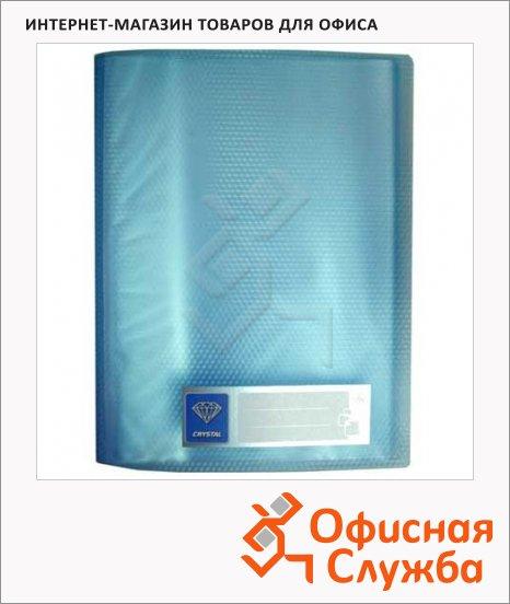 фото: Папка файловая Бюрократ Crystal голубая А4, на 80 файлов, CR80BLUE