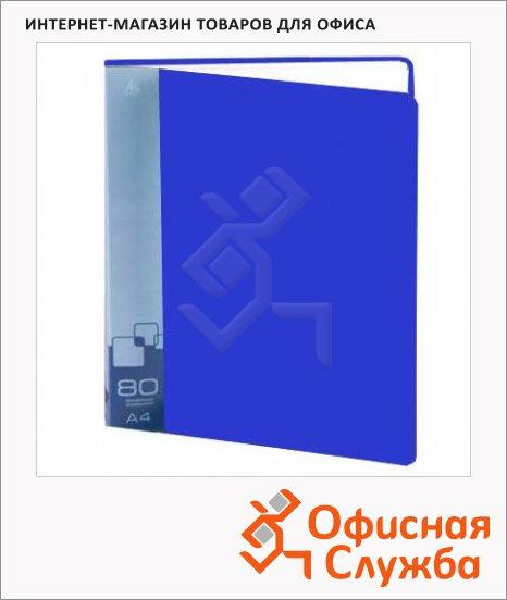 фото: Папка файловая Бюрократ синяя А4, на 80 файлов, BPV80BL
