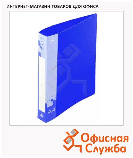 Пластиковая папка с зажимом Бюрократ синяя, А4, 16мм, PZ07CBLUE