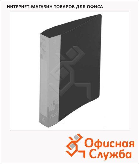 Папка пластиковая с зажимом Бюрократ черная, А4, 16мм, PZ07CBLCK