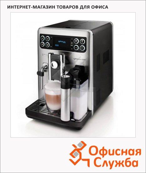 фото: Кофемашина автоматическая Exprelia EVO steel black HD8855/09 1400 Вт, серебристая