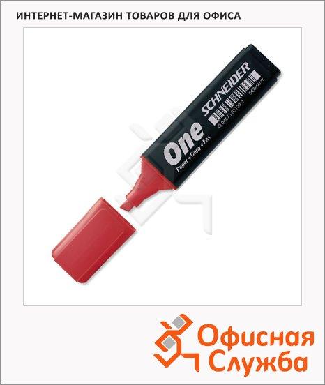 Текстовыделитель Schneider One красный, 1-4.5мм, скошенный наконечник
