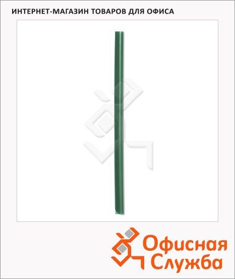 Скрепкошина Durable Spine bars зеленая, до 60 листов, 297х13мм, 100 шт/уп, 2901-05