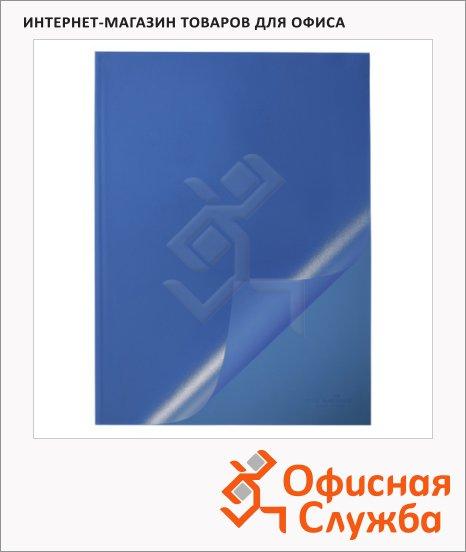 фото: Пластиковая папка с клипом Durable голубая А4, до 100 листов, 50 шт/уп, 2919-06