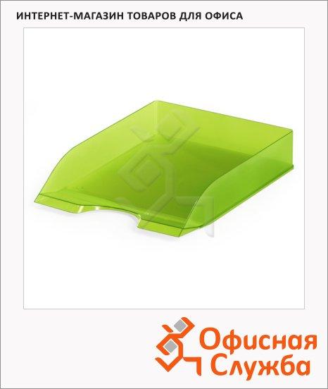 фото: Лоток горизонтальный для бумаг Basic Tray А4 светло-зеленый, 1701673017