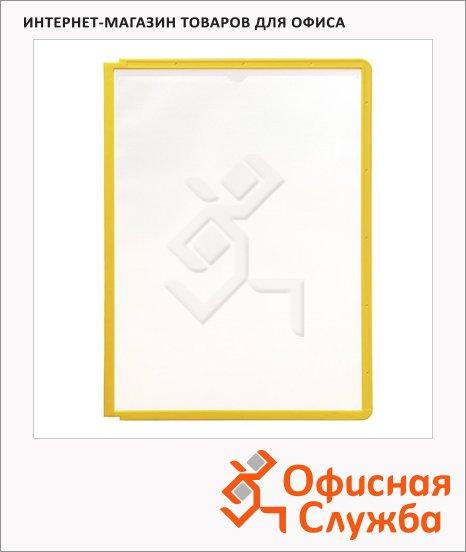 Панель для демосистем Durable А4, желтый, 5 шт, 5606-04