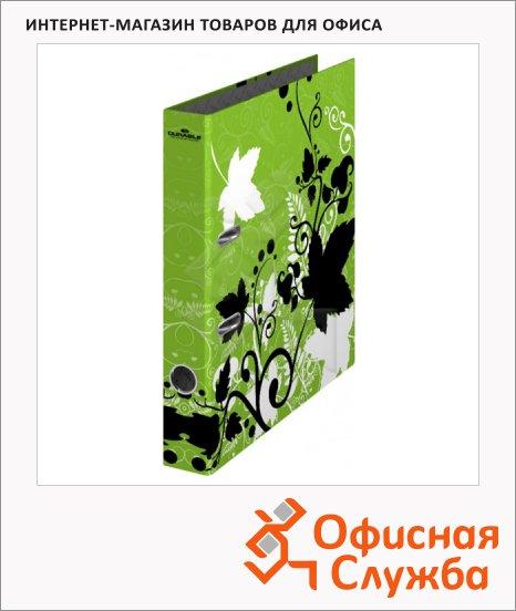 Папка-регистратор А4 Durable зеленая-листья, 50 мм, 5120-05